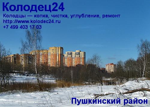 Чистка колодца Пушкино Пушкинский район Московская область