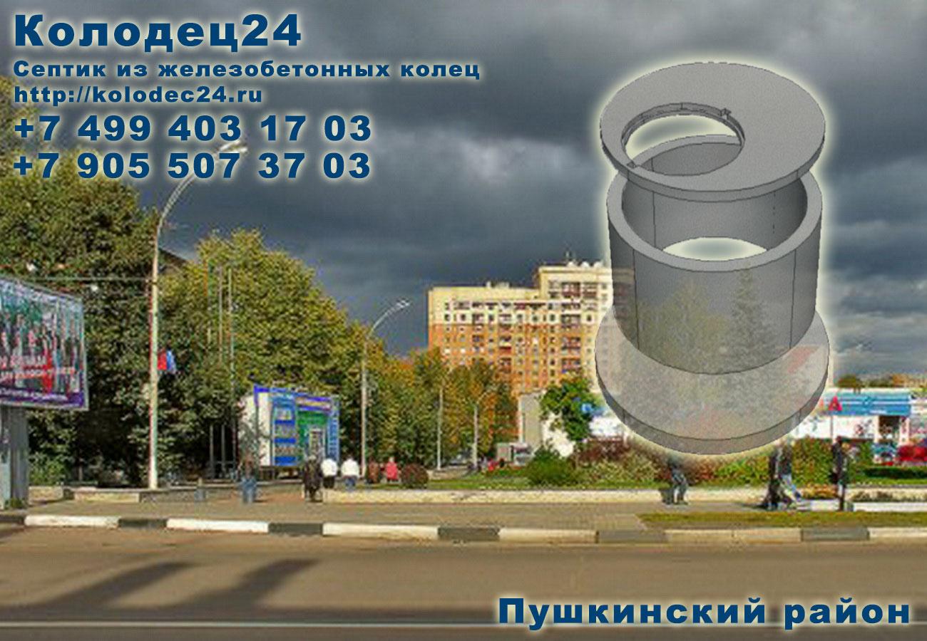 Монтаж септик из железобетонных колец Пушкино Пушкинский район