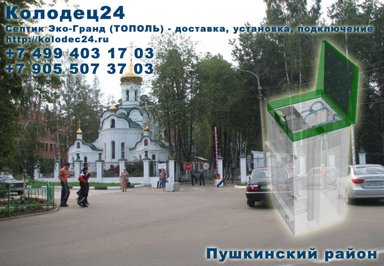 Доставка септик ЭКО-ГРАНД (ТОПОЛЬ) Пушкино Пушкинский район