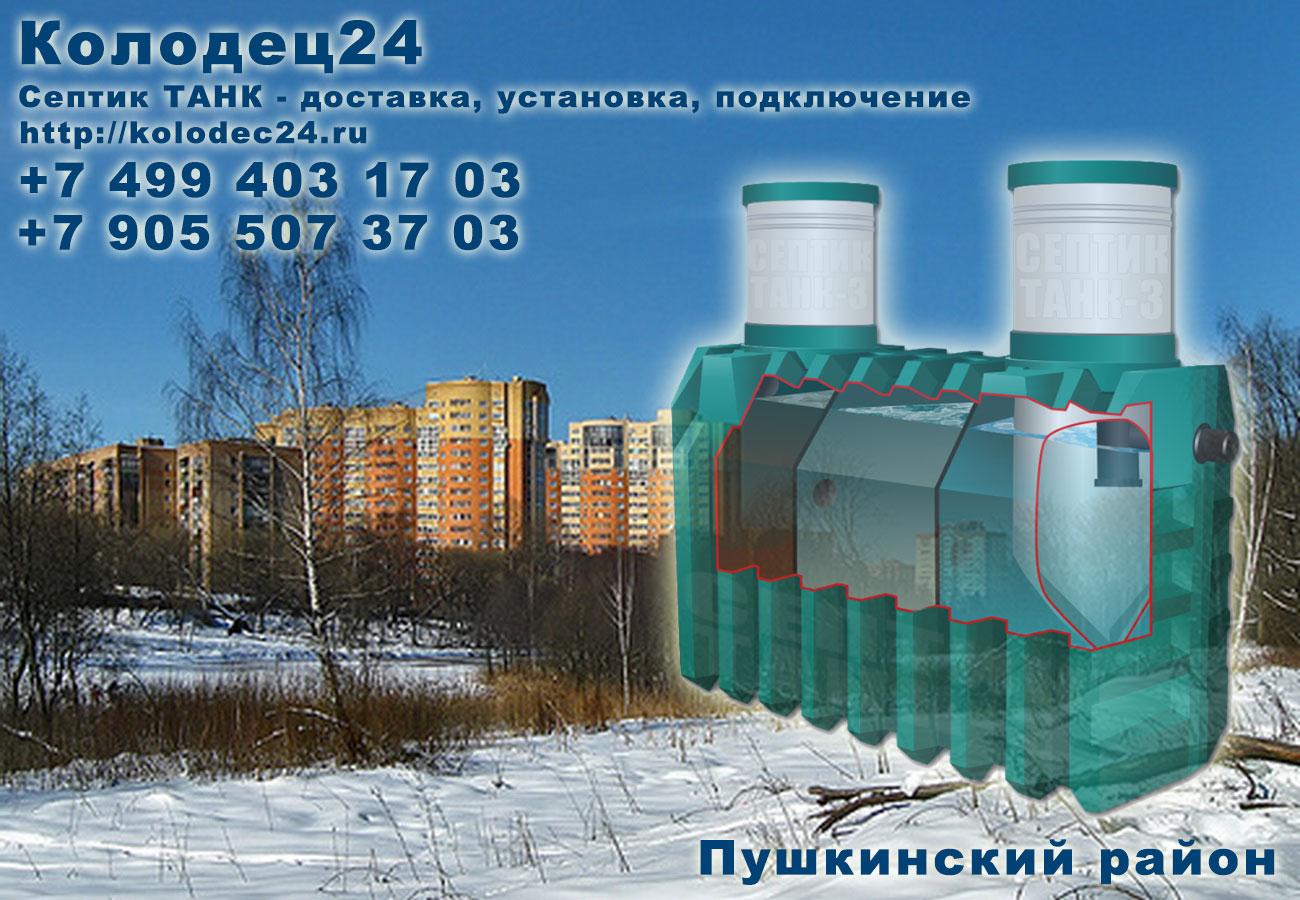 Подключение септик ТАНК Пушкино Пушкинский район