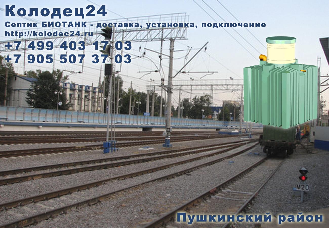 Подключение септик БИОТАНК Пушкино Пушкинский район Московская область